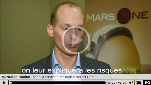 RTS Un - Mars One - Capture d'écran